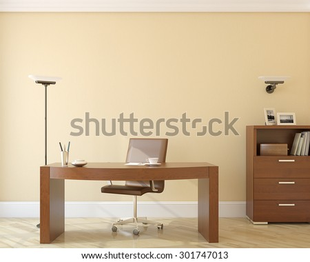 Modern office interior.3d rendering. - stock photo