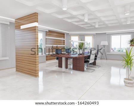 modern office interior. design concept - stock photo