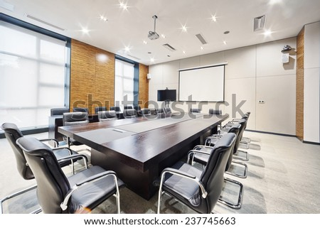 modern office meeting room interior and decoration - stock photo