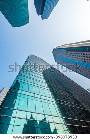 modern office skyscraper -Shanghai,China - stock photo