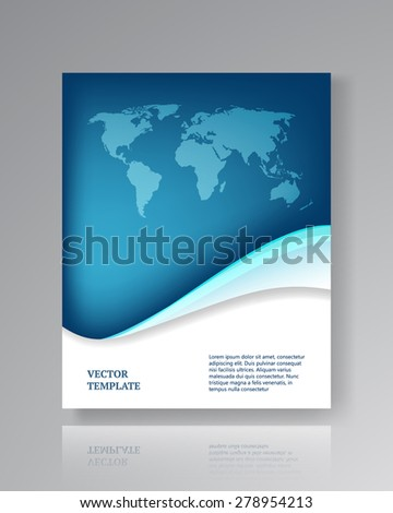 Modern paper template for flyers, corporate brochures, book covers, layouts, presentations etc. Raster illustration - stock photo