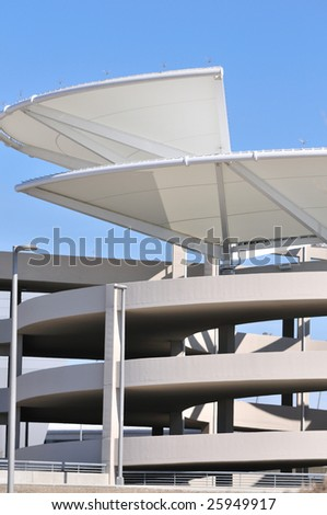 modern parking garage - stock photo