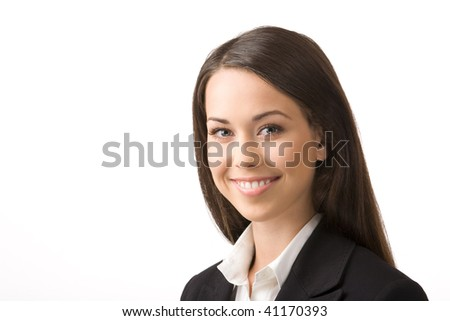 Modern portrait of a successful young professional business woman - stock photo