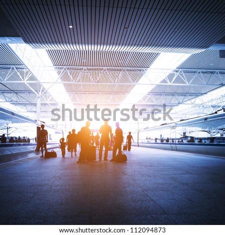 modern railway station in china - stock photo