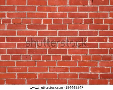 Modern red brick wall background - stock photo