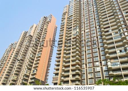 modern residential building - stock photo
