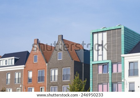 modern residential houses in amersfoort, netherlands - stock photo