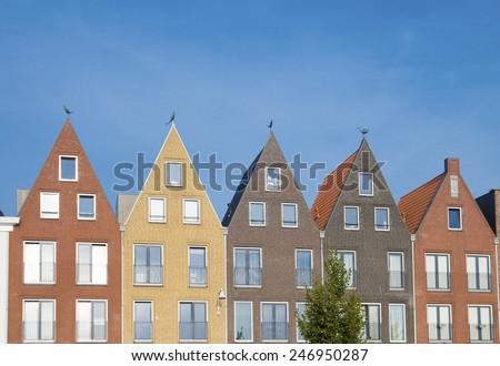 modern residential houses in amersfoort, netherlands - stock photo