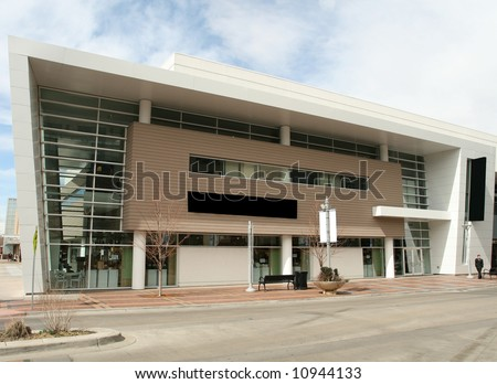 Modern Retail Building - stock photo