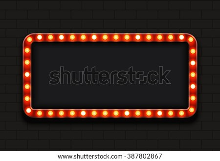 modern retro billboard background with place for your text  - stock photo