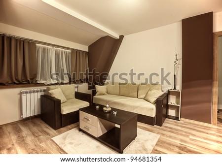 Modern room - stock photo