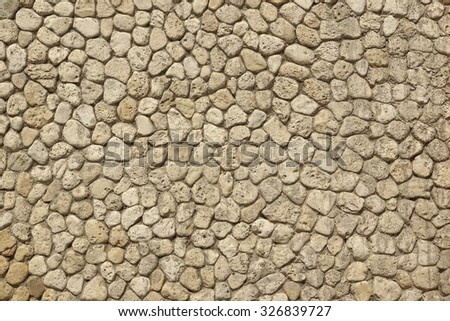 Modern Rounded White Limestone Wall Or Flooring Which Look Like Old, Rough White Grey Texture Background - stock photo