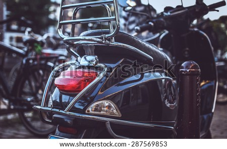 Modern scooted on the street. - stock photo