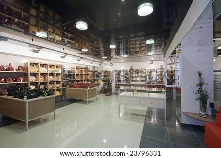 modern shop interior image - stock photo