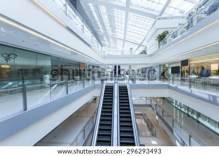 Modern shopping mall interior - stock photo
