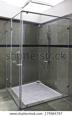 Modern shower - stock photo