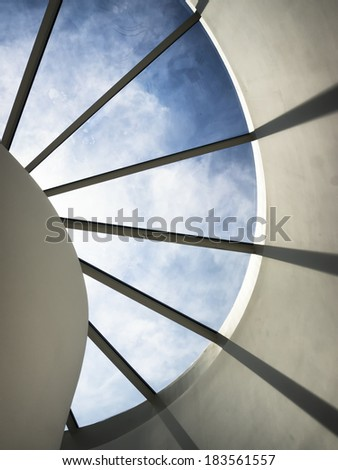 modern skylight and clear sky - stock photo