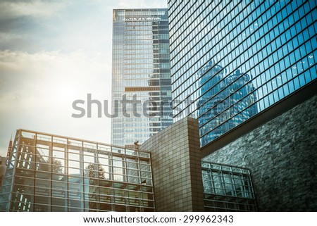 Modern skyscraper business office, corporate building abstract. - stock photo
