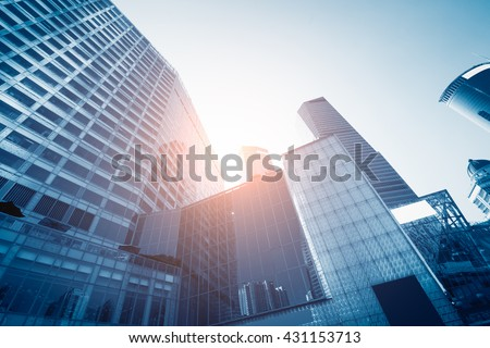 Modern skyscrapers in Central - stock photo