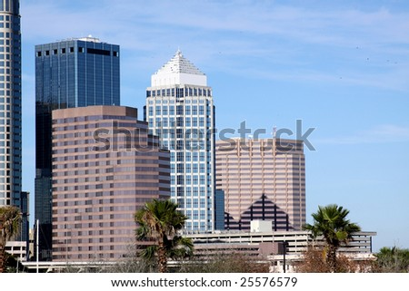 Modern Skyscrapers in Tampa Florida USA - stock photo
