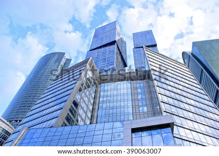 Modern skyscrapers of business center in Moscow - stock photo