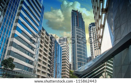 Modern Skyscrapers of Sydney, Australia - stock photo