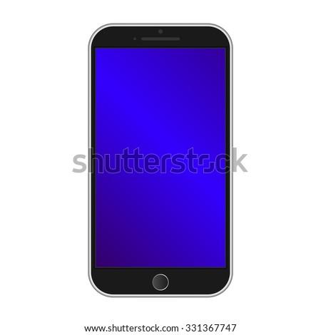 Modern smart phone isolation - stock photo