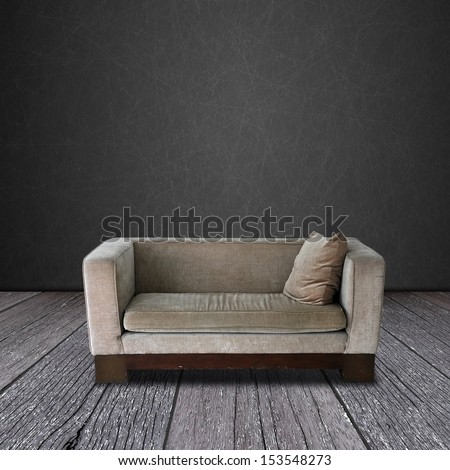 Modern sofa on the wood room - stock photo