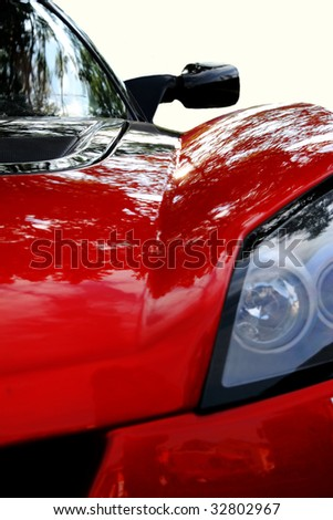 modern sport car - stock photo