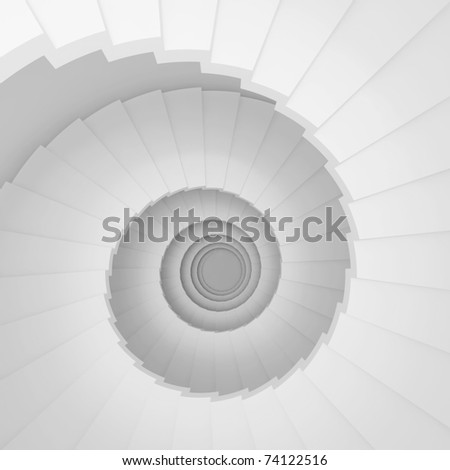 Modern Staircase Background - stock photo