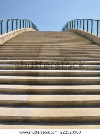 Modern stairs into the sky - stock photo
