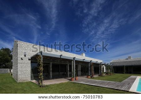 modern Stone house in Istria Croatia - stock photo