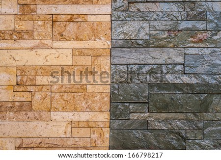 Modern stone wall for interior - stock photo