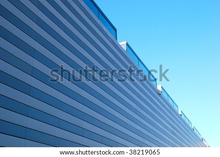 modern storage building - stock photo