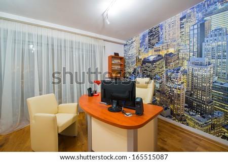 modern study room - stock photo
