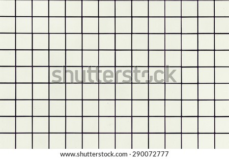 Modern style design of White mosaic tile texture wall of floor wall pattern decorate and background /White mosaic tiles texture/ White mosaic tiles texture (modern, texture, wall) - stock photo