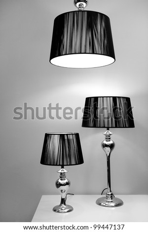 Modern style lighting - stock photo