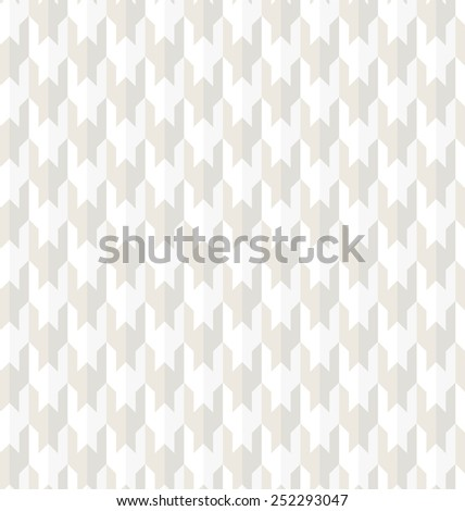 Modern stylish texture. Seamless pattern. Repeating geometric tiles. White and gray texture. - stock photo
