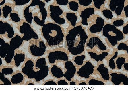 Modern stylish texture. The tiger cotton chintz. - stock photo