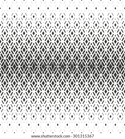 Modern stylish texture with rhombus. Seamless pattern. Repeating geometric tiles. White and gray texture - stock photo