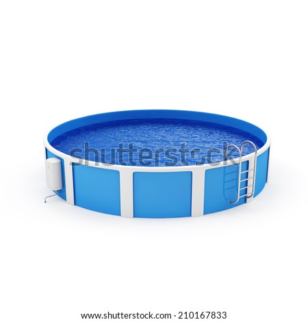 Modern Swimming Pool isolated on white background - stock photo