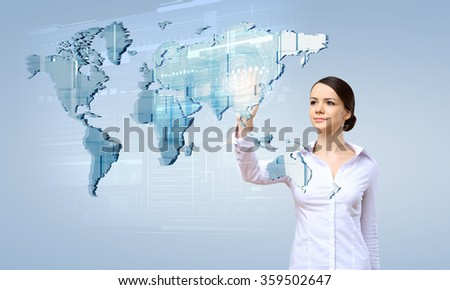 Modern technologies in use - stock photo