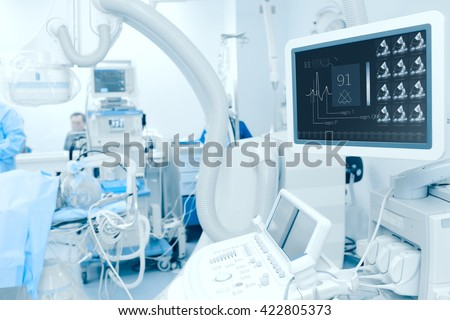 Modern technology in the diagnosis of heart disease. - stock photo