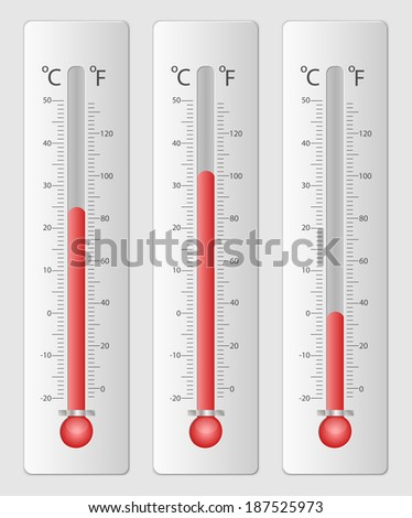 Modern thermometers for design - stock photo