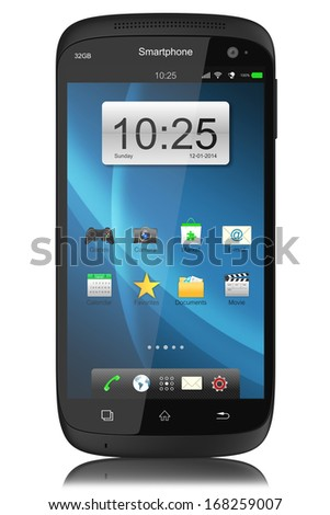 Modern touchscreen smartphone. - stock photo