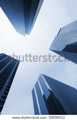 modern towers - stock photo