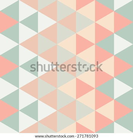 Modern Triangle Pattern - stock photo