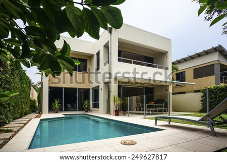 Tropical Villa Stock Photos Illustrations And Vector Art