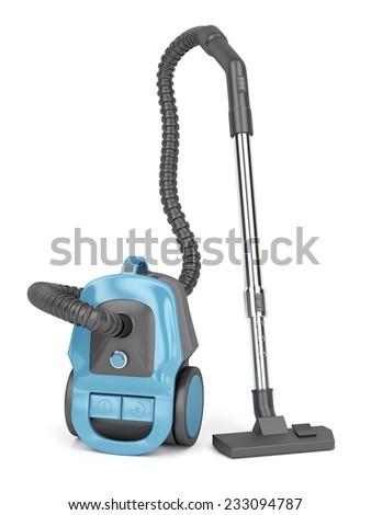 Modern vacuum cleaner on white background  - stock photo
