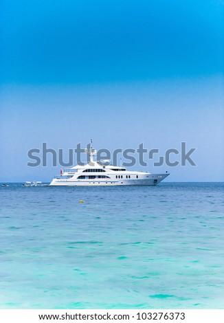 Modern Vessel Yacht Vacation - stock photo